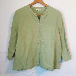 Eileen Fisher 100 linen long sleeve